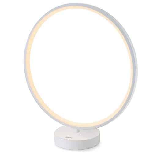 AUKEY Tischlampe, dimmbares Auralicht, Fernbedienung, 6 Lichtmodi, 4 Lichtgeschwindigkeiten und Memory-Funktion