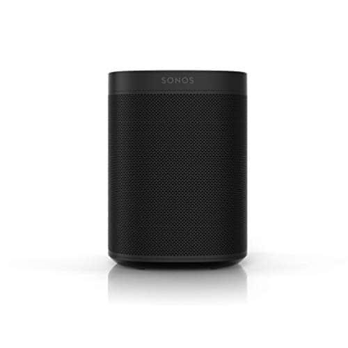 Sonos One SL All-In-One Smart Speaker (Kraftvoller WLAN Lautsprecher mit App Steuerung und AirPlay 2 – Multiroom Speaker für unbegrenztes Musikstreaming) schwarz, ohne Sprachsteuerung