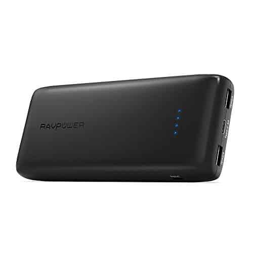 Type-C Powerbank RAVPower 22000mAh Externer Akku mit USB C Anscluss und Zwei iSmart USB Anschlüsse, für iPhone 8 / iPhone 8 Plus / iPhone X, iPad, MacBook 15