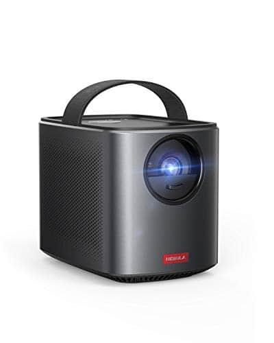 Nebula Mars II Pro von Anker, Tragbarer kompakter Projektor 500 ANSI Lumen, 720p Bildqualität, Mini Beamer mit 30-150 Zoll, 3 Stunden Akku, 10W Lautsprecher, Filmprojektor, Hochqualitatives Heimkino