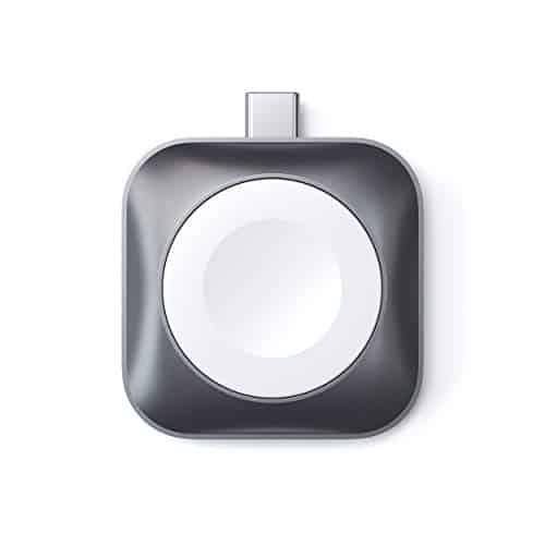 SATECHI - Kompatibel mit Apple Watch Reihe 6/5/4/3/2/1 - USB-C Magnet Ladestation [MFi-Zertifiziert] Tragbares Apple Watch Ladegerät (Kabel Nicht im Lieferumfang enthalten)
