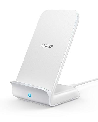 Anker Fast Wireless Charger Kabelloses Ladegerät,PowerWave 7,5W/10W/5W Ladeständer für iPhone XS Max/XR/XS/X, iPhone 8/8 Plus, Samsung Galaxy S9/S9+/S8/S8+ und mehr (Netzteil Nicht enthalten) Weiß