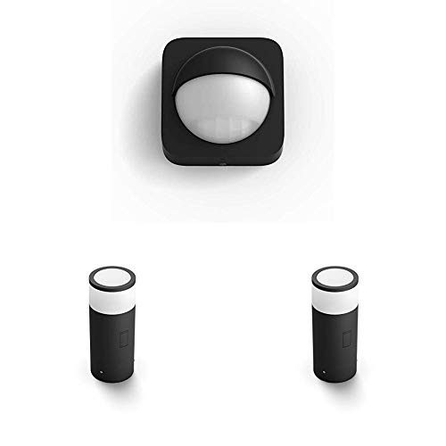 Philips Hue White & Color Ambiance LED Sockelleuchte Calla Basis-Set & Erweiterung inkl. Sensor, 16 Millionen Farben, kompatibel mit Amazon Alexa