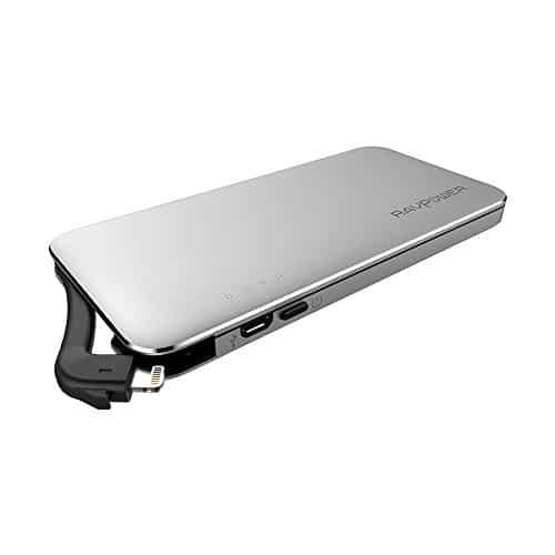 RAVPower iPhone Speicher 64GB 3 in 1 Flash Drive, SD-Kartenleser und Power Bank (Lightning-Kabel für iPhone & iPad Kompatibilität, 5000mAh Powerbank, Sofortiges Backup und Direkte Datenspeicherung), nicht kompatibel mit iPhone 8