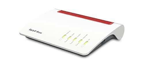 AVM FRITZ!Box 7590 High-End WLAN AC + N Router (VDSL-/ADSL-/ADSL2+, 4x4 MU-MIMO mit 1.733 (5 GHz) + 800 MBit/s (2,4 GHz), bis zu 300 MBit/s durch VDSL-Supervectoring 35b, DECT-Basis, Media Server)
