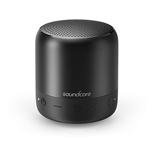Soundcore Mini 2 Bluetooth Lautsprecher von Anker, mit Wasserschutzklasse IPX7, 15 Stunden Spielzeit, 20 Meter Bluetooth Reichweite und Starkem Bass (Schwarz)