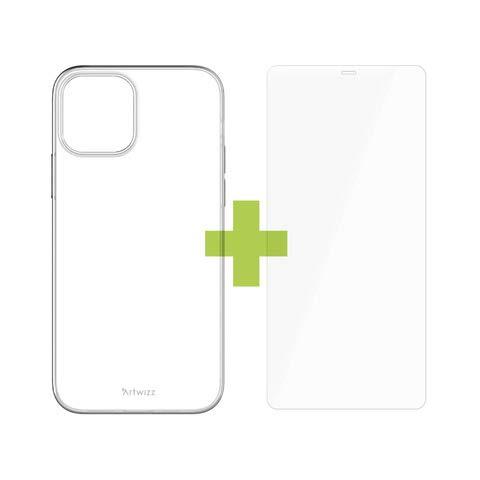 Artwizz Starter Set geeignet für iPhone 12 Pro Max (6.7') - NoCase Hülle + 2X SecondDisplay Panzerglas + PowerPlug USB-C Ladegerät