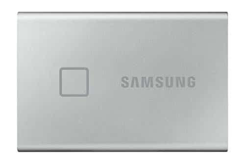 Samsung T7 Touch Portable SSD - 2 TB - USB 3.2 Gen.2 Externe SSD Metallic Silver (MU-PC2T0S/WW)