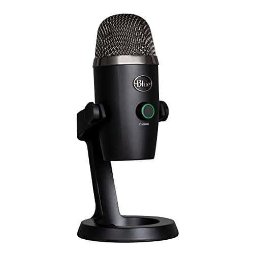 Blue Microphones Yeti NANO USB-Mikrofon für Aufnahme und Streaming auf PC und Mac, verstellbares Stativ, Plug und Play - Schwarz