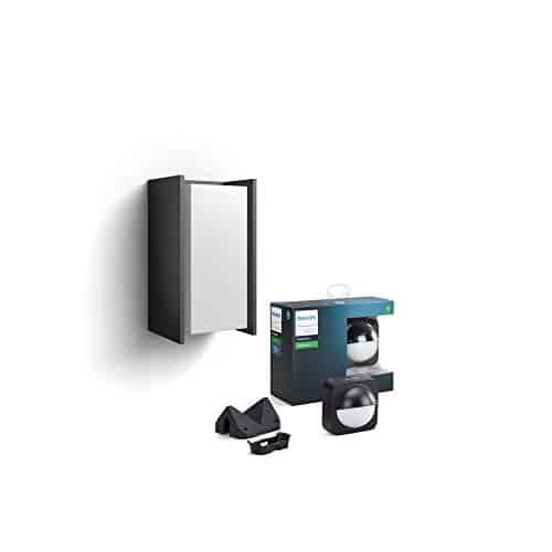 Philips Hue LED Wandleuchte Turaco inkl.Sensor für den Aussenbereich,warmweißes Licht, steuerbar via App,kompatibel mit Amazon Alexa (Echo, Echo Dot)