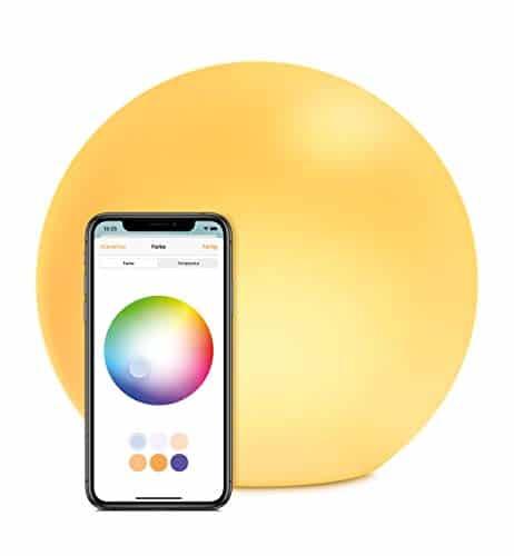 Eve Flare - Tragbare smarte LED-Kugelleuchte (Deutsche Markenqualität), wasserbeständig, weißes & farbiges Licht, 90 lm, Ø 25 cm, dimmbar, keine Bridge nötig, Bluetooth, App-Steuerung (Apple HomeKit)