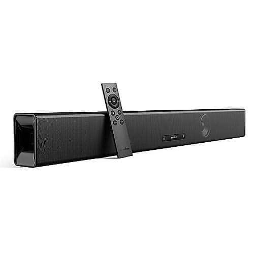 Soundcore Infini Soundbar, integriert 2.1 Channel, 88 cm Lange Soundbar, mit Bluetooth und Kabel-Funktion, Lautsprecher mit integrierten Subwoofern, mit tiefem Bass, für TV, Computer usw.