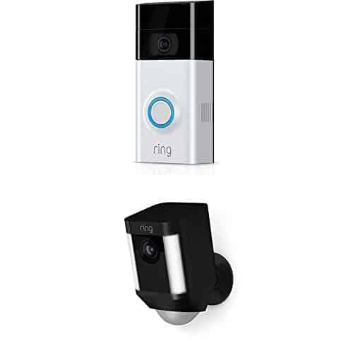 Ring Video Doorbell 2 + Spotlight Cam Battery (Black)