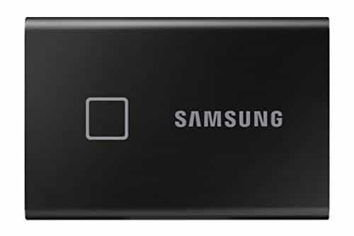 Samsung T7 Touch Portable SSD - 1 TB - USB 3.2 Gen.2 Externe SSD Metallic Black (MU-PC1T0K/WW)