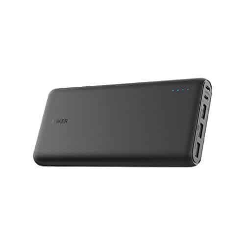 Anker PowerCore 26800mAh Power Bank Externer Akku mit Dual Input Ladeport, Doppelt so Schnell Wiederaufladbar, 3 USB Ports für iPhone XR/XS/X / 8 / 8Plus / 7, Samsung Galaxy und weitere (Schwarz)
