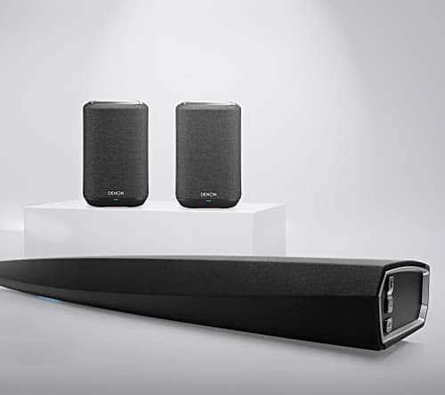 Denon DHT-S716H 5.0 Heimkino System, Premium TV Soundbar mit kabellosen Surround-Lautsprechen Home 150, mit HEOS, DTS-HD Master Audio, Hi-Res, Alexa kompatibel