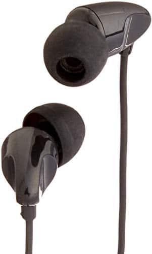 AmazonBasics In-Ear-Kopfhörer mit Universal-Mikrofon, Schwarz