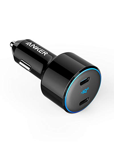 Anker PowerDrive+ III Duo USB-C Autoladegerät, 48W 2-Port PIQ 3.0 Schnellladegerät, mit Power Delivery, für iPhone 11 / 11 Pro / 11 Pro Max / XR / XS / X, Galaxy S10 / S9, Note 9 und mehr