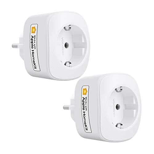 VOCOlinc HomeKit Presa Wi-Fi Smart Plug Funziona Con (iOS13 +) Alexa e Google Assistant Timer Monitoraggio Energetico Nessun Hub Richiesto 10 A 2300 W 2,4 GHz (2) (2PACK-VP3)