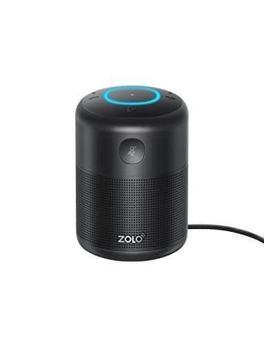 ZOLO Halo Smart Speaker Alexa Sprachsteuerung, Kraftvollem Klang, Amazon Music Unlimited Stream, TuneIn, Radio Player, Audio Bücher, Smart Home Gerätekontrolle, Zeiteinstellung - Bluetooth, AUX, WLAN
