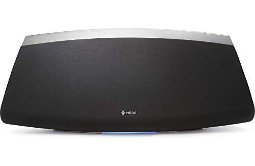 Denon HEOS 7 HS2 Audio-streaming Lautsprecher (Multiroom, Amazon Music, Spotify connect, Deezer, Tidal, Soundcloud, Bluetooth integriert, WLAN, USB, Appsteuerung, Aux-In, Kopfhörerausgang) schwarz