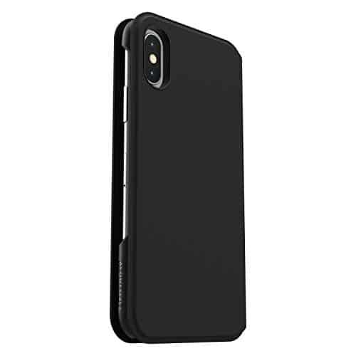OtterBox Strada Via Folio sturzsichere Schutzhülle für iPhone X/Xs - schwarz