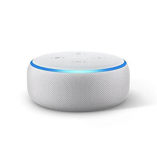 Echo Dot (3. Gen.) Intelligenter Lautsprecher mit Alexa, Sandstein Stoff