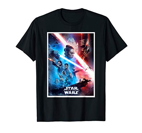 Star Wars The Rise of Skywalker Characters Movie Poster T-Shirt