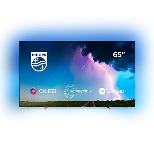 Philips Ambilight 65OLED754/12 164 cm (65 Zoll) OLED Smart TV mit Alexa-Integration (4K UHD, P5 Perfect Picture Engine, Dolby Vision, Dolby Atmos, HDR 10+, Saphi Smart TV) Silber