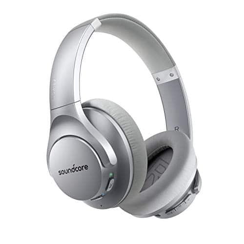 Soundcore Life Q20 Bluetooth Kopfhörer, Aktive Geräuschunterdrückung, 40 St. Wiedergabezeit, Hi-Res Audio, Intensiver Bass, kabellose Over-Ear Kopfhörer für Homeoffice, Online-Unterricht, Konferenzen (Black)