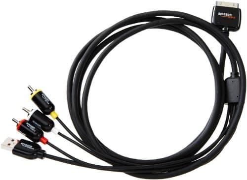 AmazonBasics Composite-AV-Kabel für Apple iPhone, iPad und iPod (2 m)