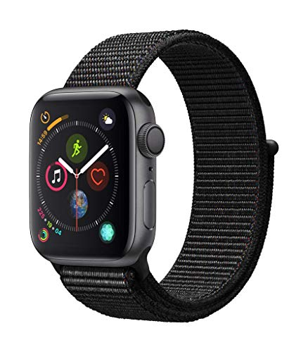 Apple Watch Series 4 (GPS, 40mm) Aluminiumgehäuse Space Grau - Sport Loop Schwarz