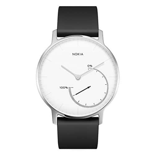 Nokia health Erwachsene Steel-Fitnessuhr Armbanduhr, Weiß, 36 mm