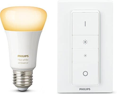 Philips Hue White Ambiance Light Recipe Kit, E27 LED-Lampe inkl. Dimmschalter, dimmbar, alle Weißschattierungen, steuerbar via App, kompatibel mit Amazon Alexa (Echo, Echo Dot)