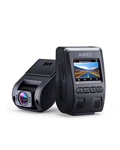 AUKEY Dashcam 1080p Kompakte Autokamera, 170° Weitwinkel, Wdr Nachtsicht Bewegungssensor, Loop Aufnahme, 1, 5