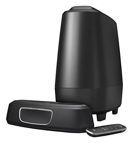 Polk Audio MagniFi Mini Heimkino-System, kompakte Soundbar mit Subwoofer, 5.1 Dolby Digital Decoding, Bluetooth, WLAN, Google Chromecast, HDMI ARC, AUX, optischer Eingang