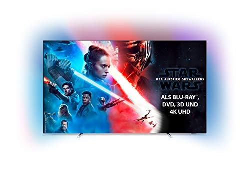 Philips Ambilight 55OLED754/12 139 cm (55 Zoll) OLED Smart TV mit Alexa-Integration (4K UHD, P5 Perfect Picture Engine, Dolby Vision, Dolby Atmos, HDR 10+, Saphi Smart TV) Silber [Modelljahr 2019]