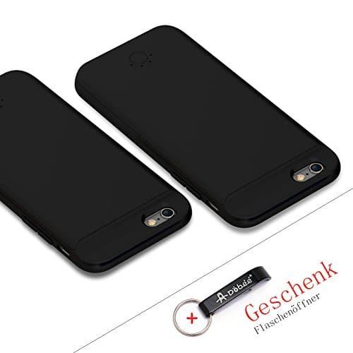 Dobee 2500mAh Aufladbar iPhone Externer Akku Ersatzakku Schutzhülle Akkuhülle Battery Case Cover Powerbank für iPhone 6/6s/7