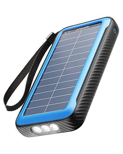 Anker PowerCore Solar 20000, 18W USB-C Externer Akku mit 20.000mAh mit Dualports, Taschenlampe, IP65 Wasserschutz und Staubfest, für Draußen, Wandern, Zelten, Kompatibel mit Smartphones und mehr