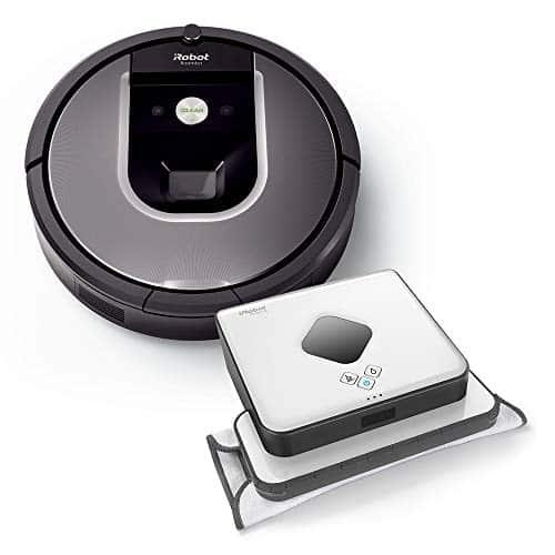 iRobot Roomba Volks-Saugroboter 960 plus Braava 390t Wischroboter im Set: Roomba saugt und Braava wischt, hohe Reinigungsleistung auf allen Böden, ideal für Tierhaare und große Räume, App-Steuerung