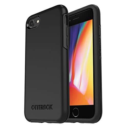 OtterBox Symmetry sturzsichere Schutzhülle für iPhone 7 / 8, schwarz