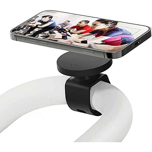 Belkin Fitness-Halterung mit MagSafe (für Fitness-Studio-Geräte, magnetische Mobilgerät-Halterung, Lenkerschlaufe für Ergometer, Laufband, Spinning-Rad, Ellipsentrainer für die iPhone 13-Serie)