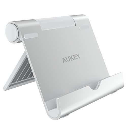 AUKEY Handyständer Verstellbarer Tablethalter Aluminiumlegierung für iPad Air / Mini, iPhone X / 8 / 7 / 6s / 6 Plus, Samsung Galaxy Tab / S8 / Note 8, Kindle, Nintendo Switch, Huawei und Andere Smartphones und Tablets