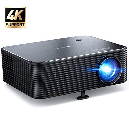 Beamer, APEMAN Native 1080P Projektor, 300'' Display Full HD Unterstützt 4K Video, ±25° Fern Elektronische Korrektur, Kompatibel mit HDMI/USB/Smartphone/Laptop/PS4, Für Heimkino/Geschäftspräsentation