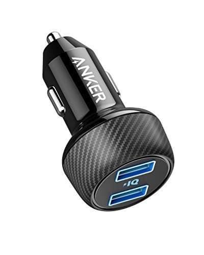 Anker PowerDrive 2 Elite Kompaktes 24W Kfz Ladegerät Dual Port Auto Ladegerät mit PowerIQ Technologie für Apple, Samsung, andere iOS oder Android Handys und Tablets