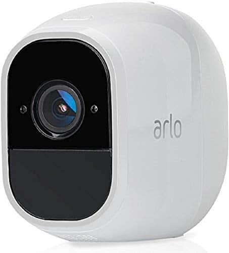 Arlo Pro2 Smart Home Zusatz-Überwachungskamera & Sicherheitsalarm (130 Grad Blickwinkel, kabellos, WLAN, Bewegungsmelder, Innen/Außen, Nachtsicht, wetterfest, 2-Wege Audio) weiß, VMC4030P