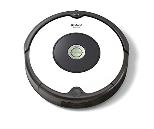 iRobot Roomba 605 Saugroboter mit 3-stufigem Reinigungssystem, Dirt Detect Technologie, Staubsauger Roboter, selbstaufladend mit Ladestation, geeignet für Tierhaare, Teppiche und Hartböden, Weiß