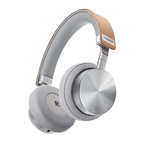 VONMÄHLEN - Wireless Concert One Bluetooth Kopfhörer On-Ear in Silber - Reise-Case, Micro-USB, Aux Kabel, Kabelmanagement - Design Kopfhörer kabellos