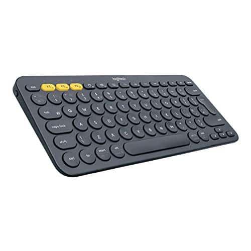 Logitech K380 Kabellose Bluetooth-Tastatur, Multi-Device & Easy-Switch Feature, Windows- und Apple-Shortcuts, PC/Mac/Tablet/Handy/Apple iOS+TV, Deutsches QWERTZ-Layout - schwarz