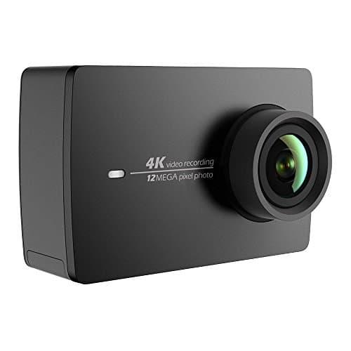 YI 4K Action Kamera 4K/30fps Videoaufnahme 12MP ActionCam mit 155° Weitwinkel 5,56 cm (2,2 Zoll) LCD Touchscreen, Wifi und App für Smartphone, Sprachbefehl - Schwarz
